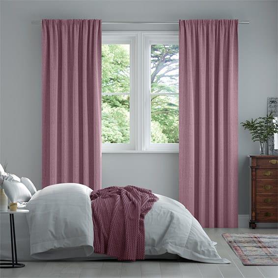 Paleo Linen Damson Curtains