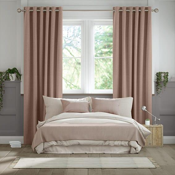 Paleo Linen Dusky Pink  Curtains