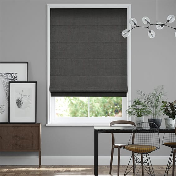 Paleo Linen Homespun Grey  Roman Blind