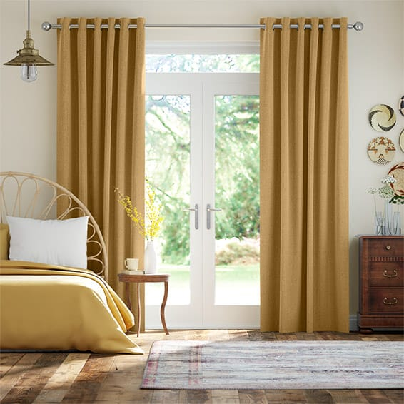 Paleo Linen Mustard  Curtains