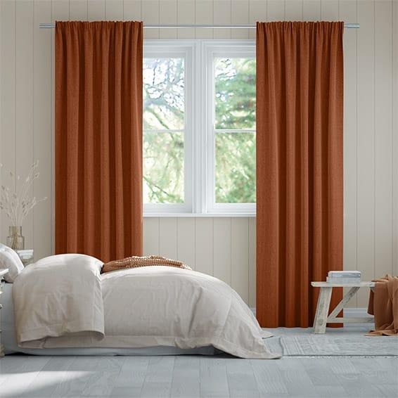 Paleo Linen Pumpkin  Curtains