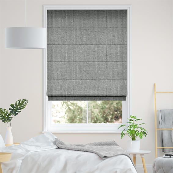 Paleo Linen Steel Roman Blind