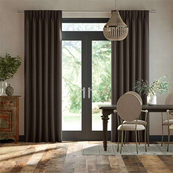 Paleo Linen Taupe  Curtains