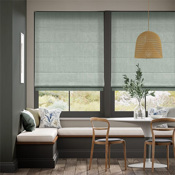 Paleo Linen Teal Wash  Roman Blind