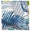 Palm Leaf Blue Roller Blind swatch image
