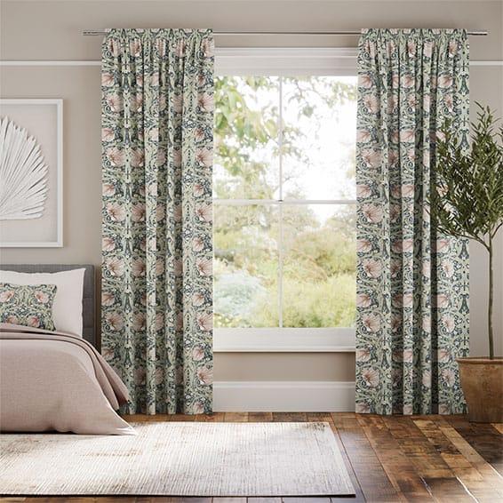 Palm Leaf Natural Grey Curtains