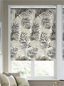 Palm Leaf Natural Grey Roller Blind thumbnail image