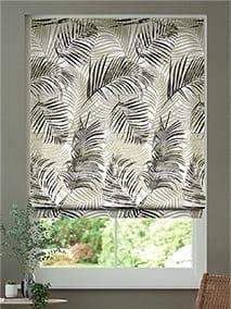 Palm Leaf Natural Grey Roman Blind thumbnail image