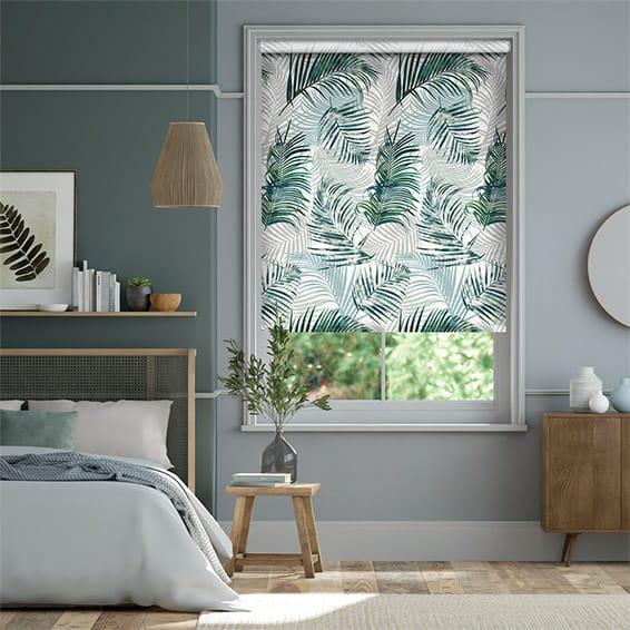 Palm Leaf Sage Green Roller Blind