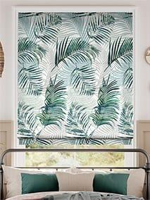 Palm Leaf Sage Green Roman Blind thumbnail image