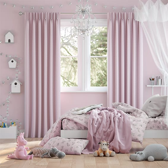 Party Polka Candy Floss Curtains