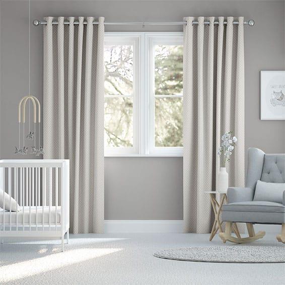 Party Polka Grey Curtains