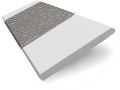 Pearl Grey & Steel Wooden Blind with Tapes - 35mm Slat sample image