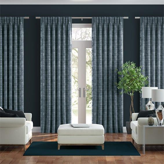 Persian Velvet Electric Blue Curtains