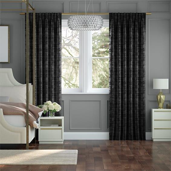Persian Velvet Noir Curtains