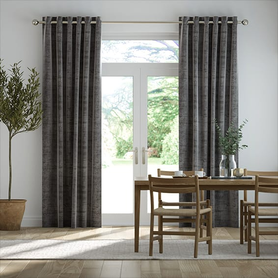 Persian Velvet Slate Curtains