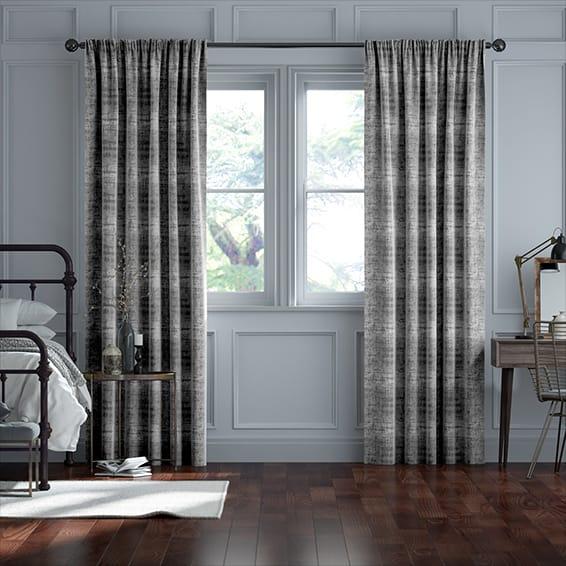 Persian Velvet Titanium Curtains