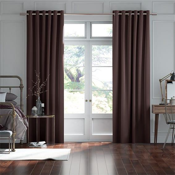 Plush Velvet Acai Curtains