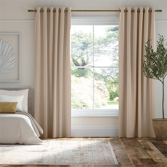 Plush Velvet Almond Curtains