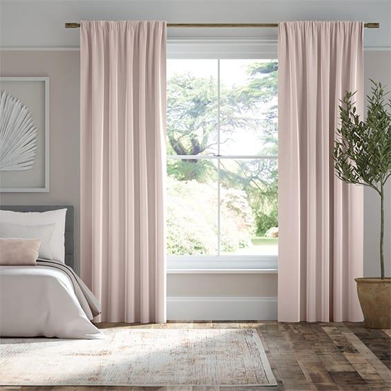 Plush Velvet Blush Curtains