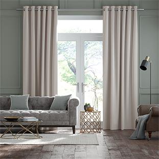 Plush Velvet Pearl Grey Curtains thumbnail image