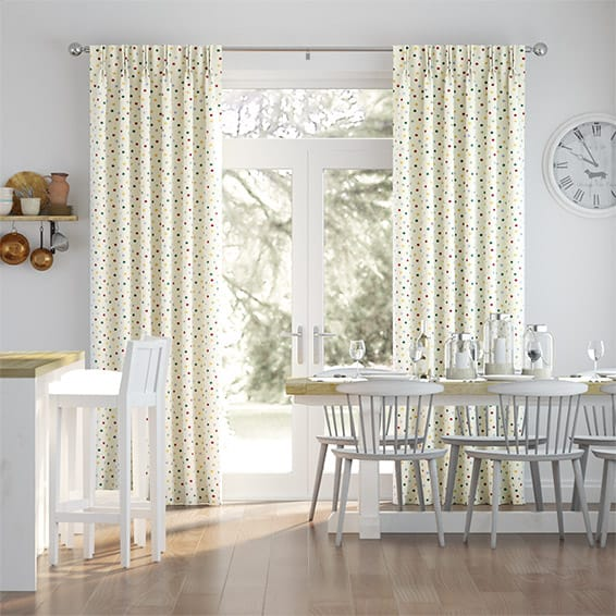 Polka Dot Multi  Curtains