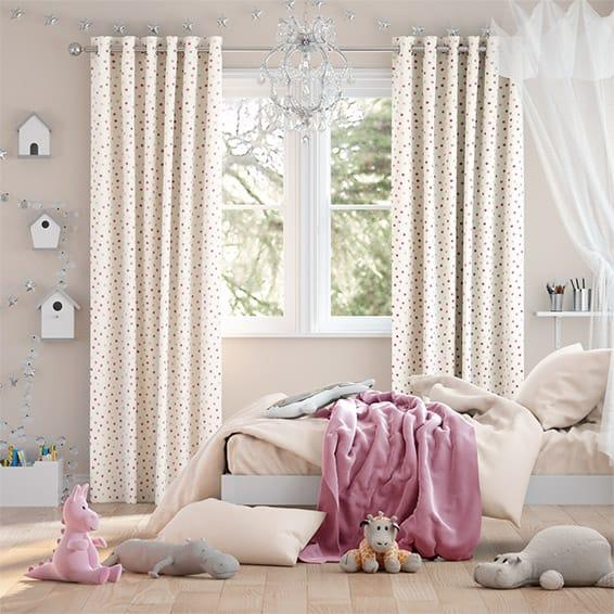 Polka Dot Pink Curtains