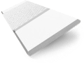 Pure White & White Wooden Blind with Tapes - 50mm Slat sample image