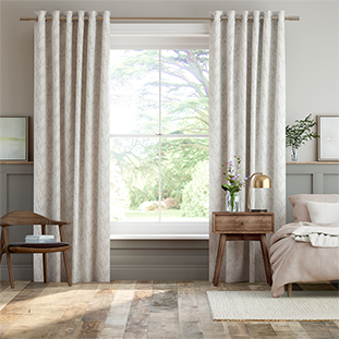 Pussy Willow Dove Grey Curtains thumbnail image