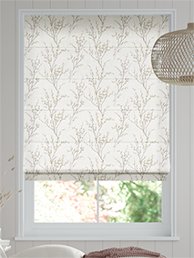 Pussy Willow Dove Grey Roman Blind thumbnail image