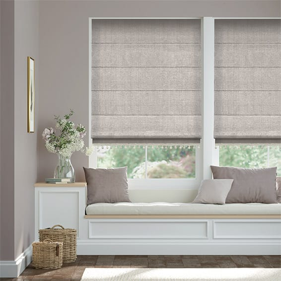 Quintessence Paloma & Stone Trimmed Roman Blind