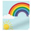 Rainbow Sky Curtains slat image