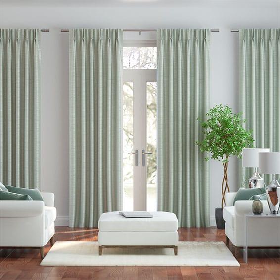 Real Silk Aquamarine Curtains