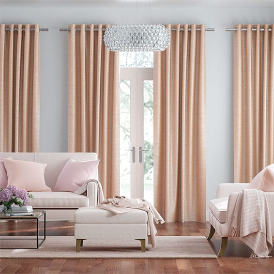 Real Silk Blush Curtains