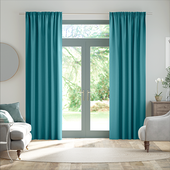 Real Silk Kingfisher Curtains