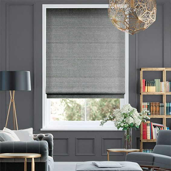 Real Silk Moonstone Roman Blind