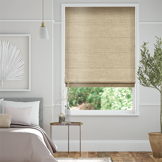 Real Silk Pale Gold  Roman Blind