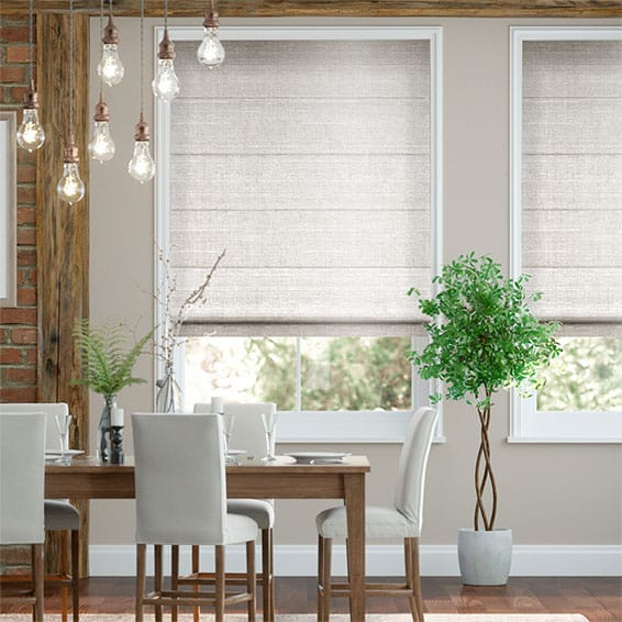 Real Silk Quartz Roman Blind