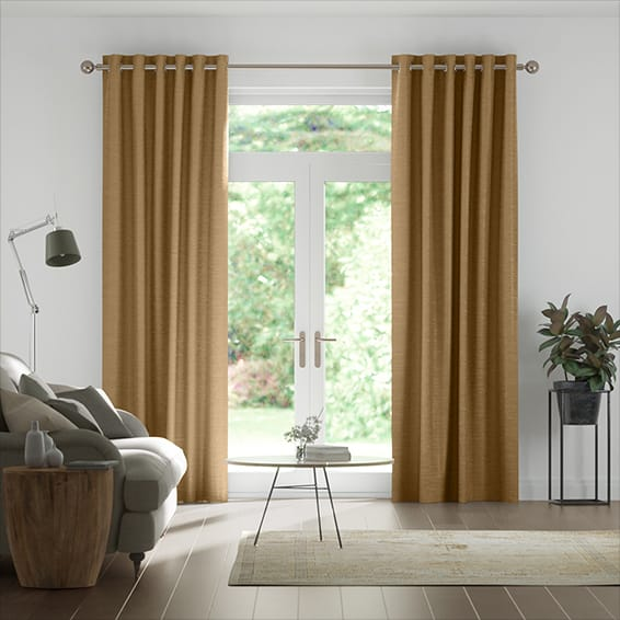 Real Silk True Bronze Curtains
