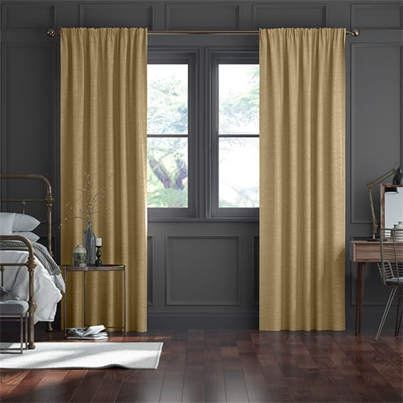 Real Silk True Gold Curtains