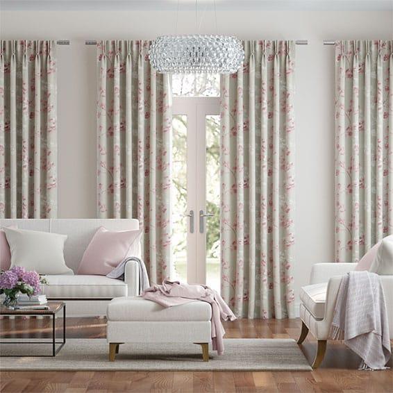 Renaissance Linen Blush Pink Curtains