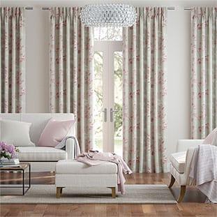 Renaissance Linen Blush Pink Curtains thumbnail image