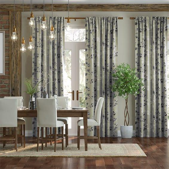 Renaissance Linen Charcoal Curtains