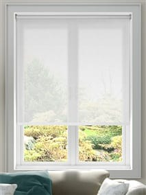 Serenity Cloud White Voile Roller Blind thumbnail image