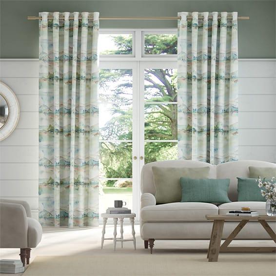 Russet Shores Cream Curtains
