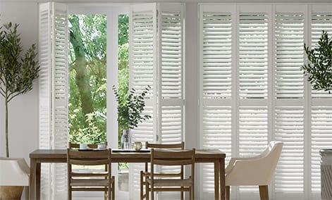 San Jose Premium Cotton White Shutter Blinds thumbnail image