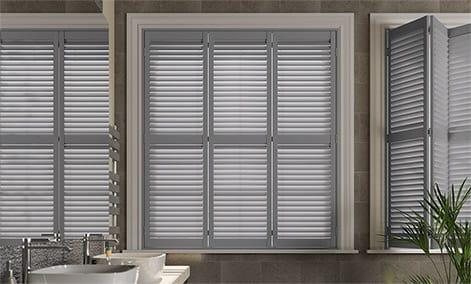 San Jose Premium French Grey Shutter Blinds thumbnail image