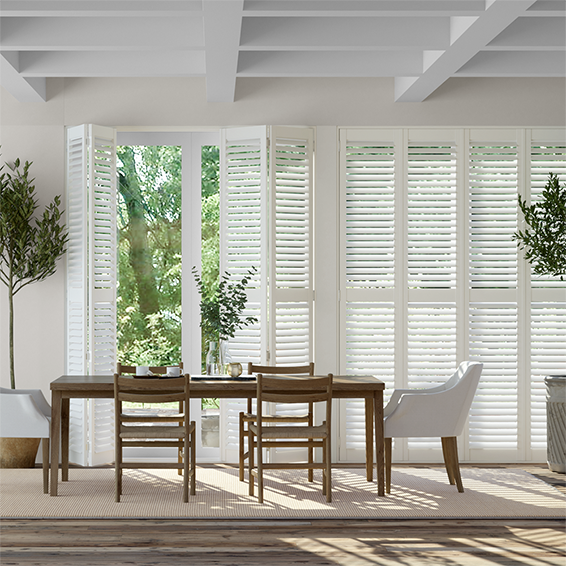 San Jose Pure White Shutter Blinds