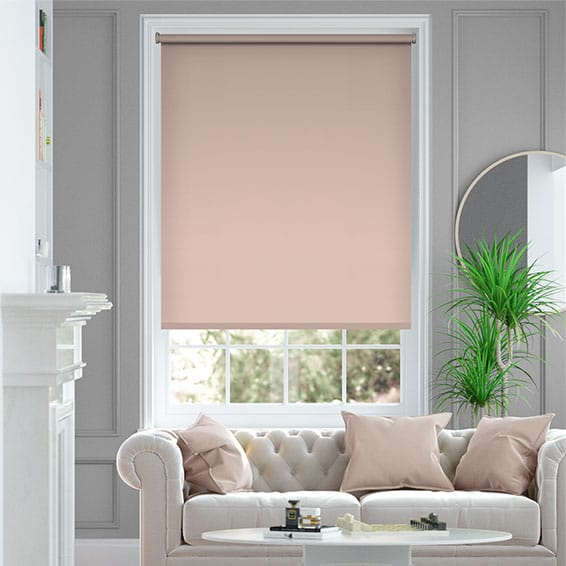 Santiago Blackout Blush Roller Blind