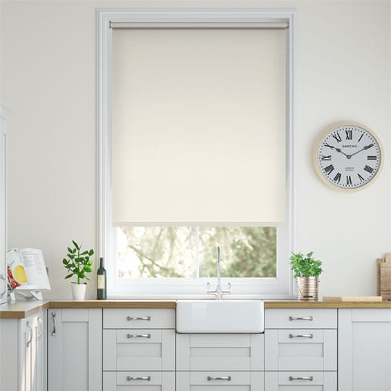 Santiago Blackout Pale Mist Roller Blind